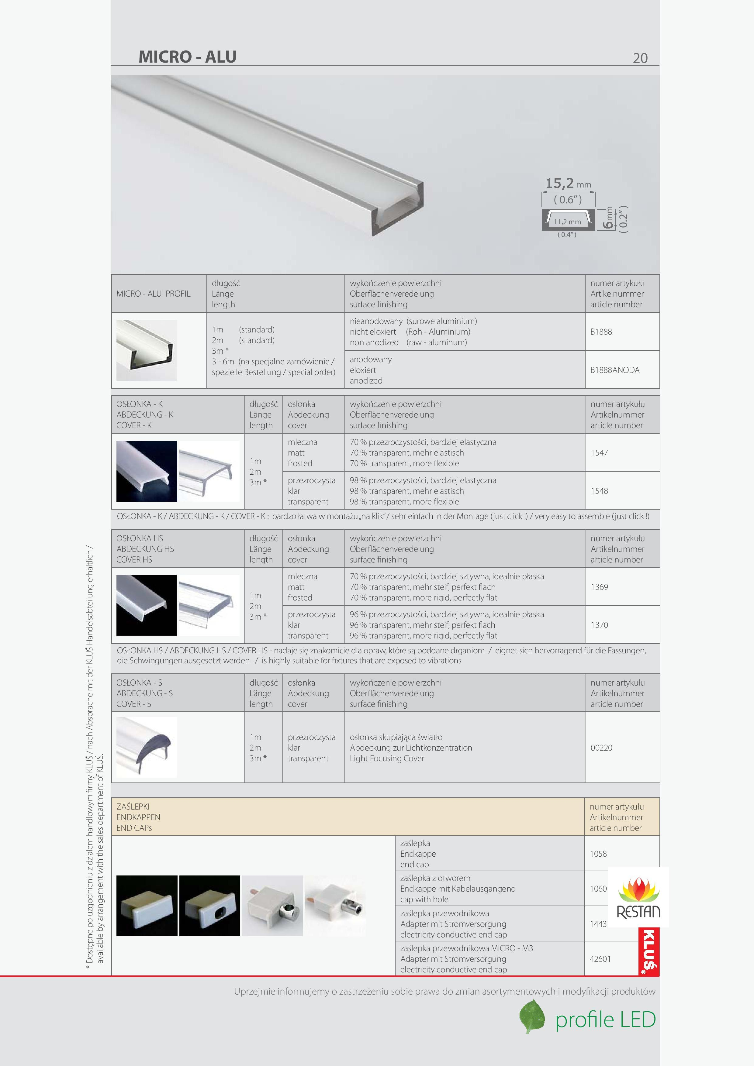 Hliníkové profily pro schody, Hliníkové profily