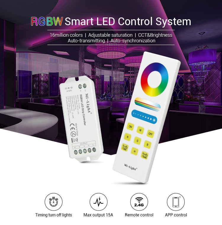 MILIGHT Fernbedienung, MILIGHT, MILIGHT, RGBW LED Strip Controller, FUT044a