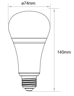 milight, wifi milight, futlight, FUT105, żarówka MILIGHT, led bulb easybulb, led bulb milight