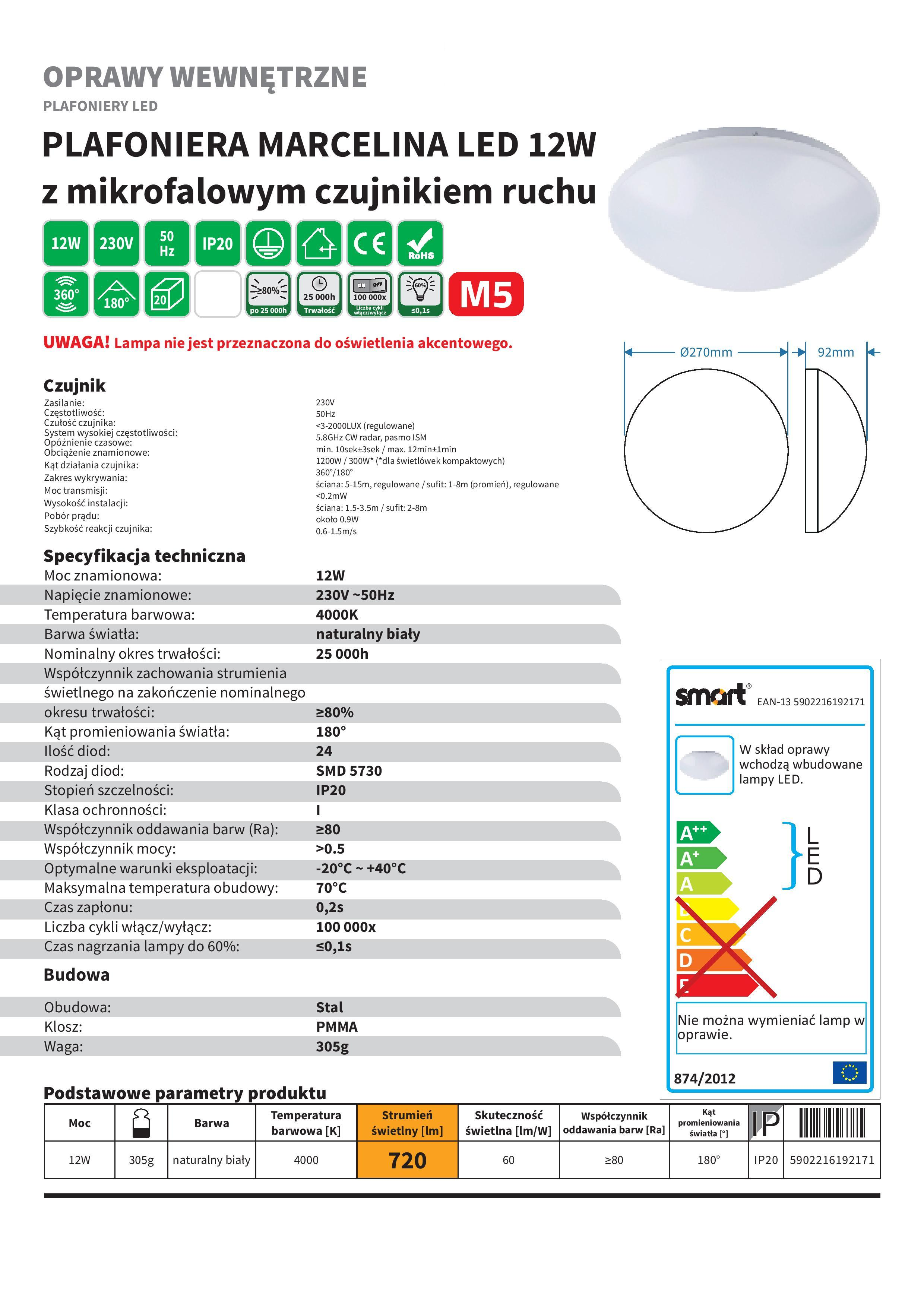 Plafoniera LED, LED overhead lights, LED-Deckenbeleuchtung, Светодиодные плафон, LED stropní svítidla, MArcelina