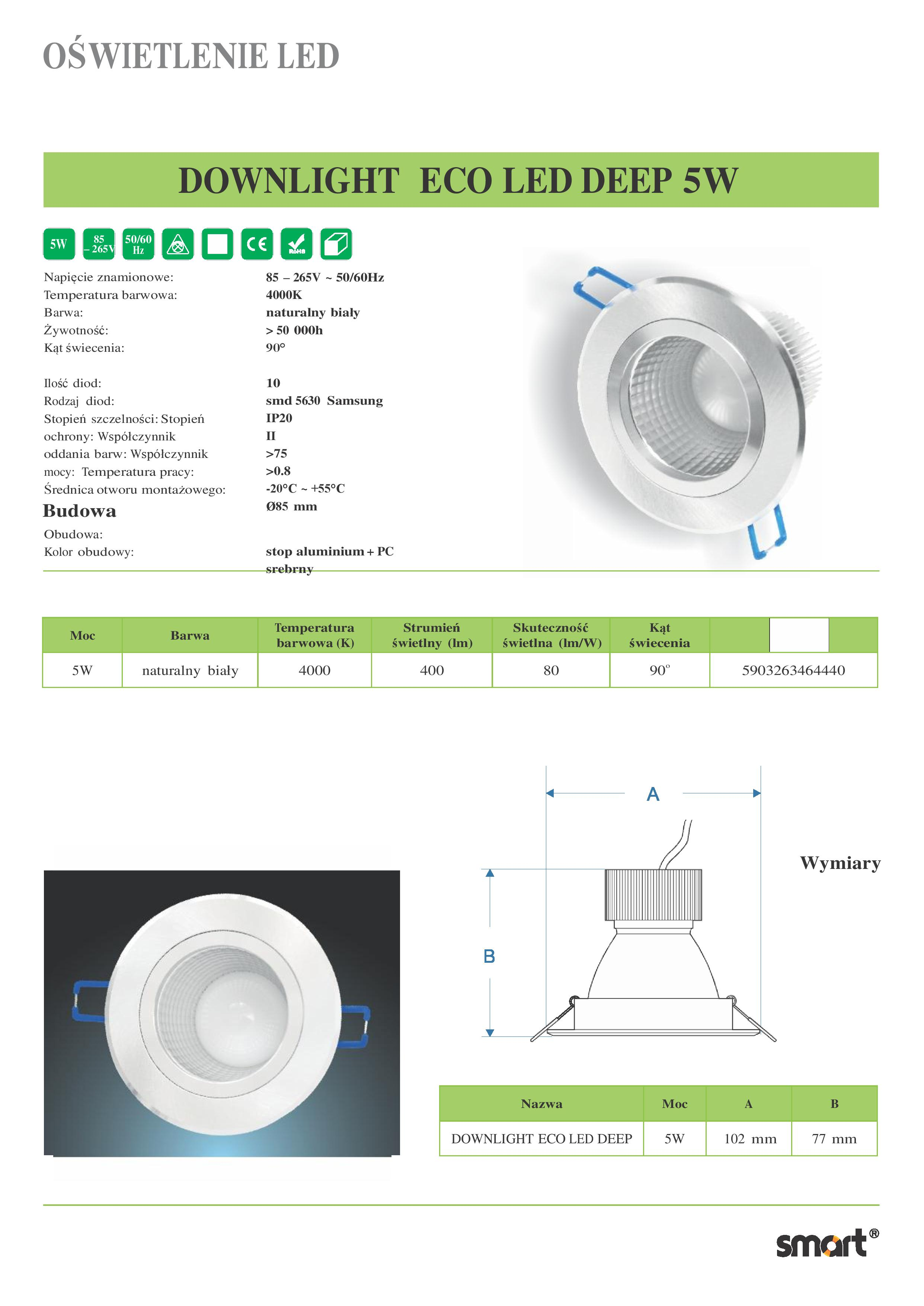 DOWNLIGHT-ECO-LED-DEEP-5W-