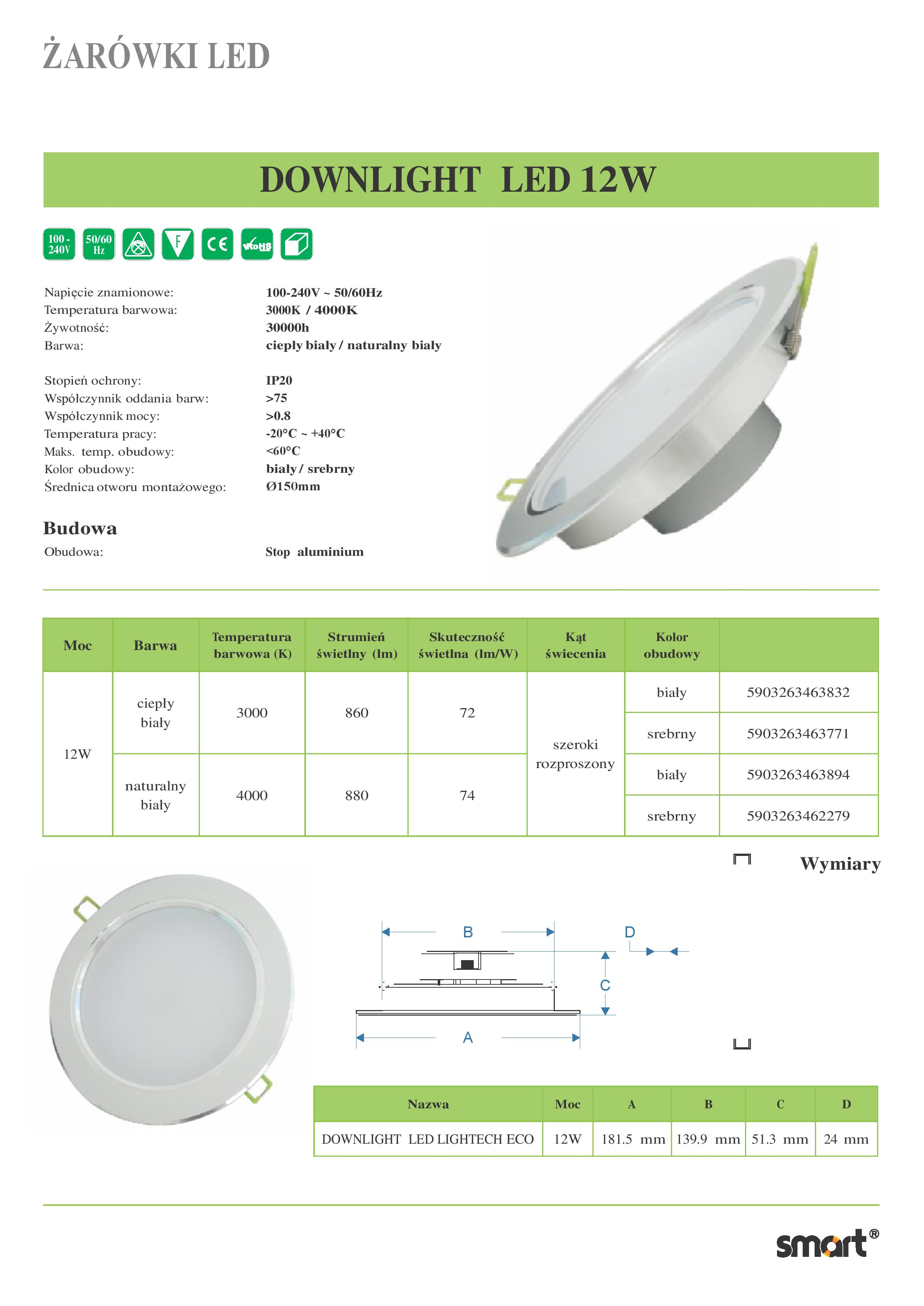 DOWNLIGHT-LED-12W